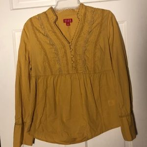 ELLE mustard colored blouse - small